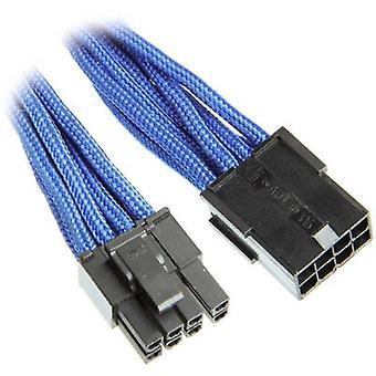 BitFenix aktuelle Kabelverlängerung [1 x PCI-E Stecker 8-polig (6 + 2) - 1 x PCI-E Stecker 8-polig] 45 cm blau, schwarz