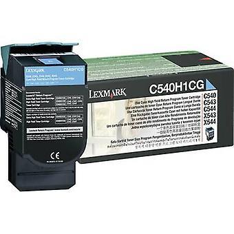 Páginas de Lexmark Toner cartucho Original Cyan 2000 de C540H1 C540H1CG