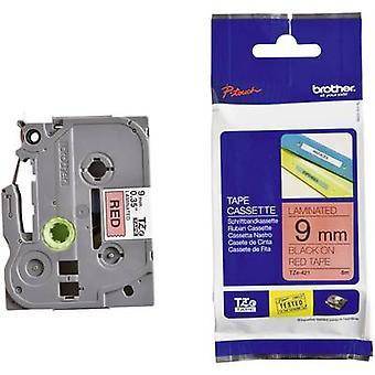 Labelling tape Brother TZe, TZ TZe-421 Tape colour: Red Font colour:Black 9 mm 8 m