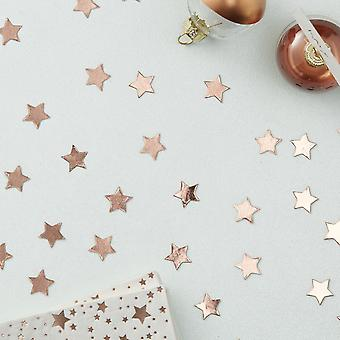 Rose Gold Star Shaped Confetti Table Scatter - Wedding Christmas