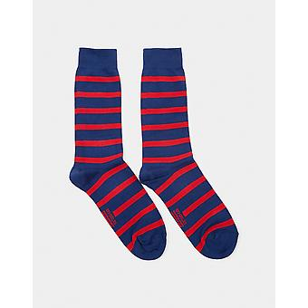 Armor Lux Chaussettes Homme Socks Blue & Red - Blue