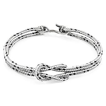 Anchor & Crew Grey Dash Foyle Silver and Rope Bracelet