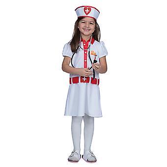 Sykepleier kjole kostyme for barn
