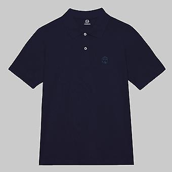 Sergio Tacchini Short Sleeve Cotton Pique ST Polo Navy