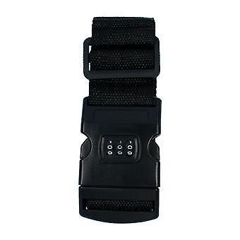 TRIXES Black Combination Luggage Straps Adjustable