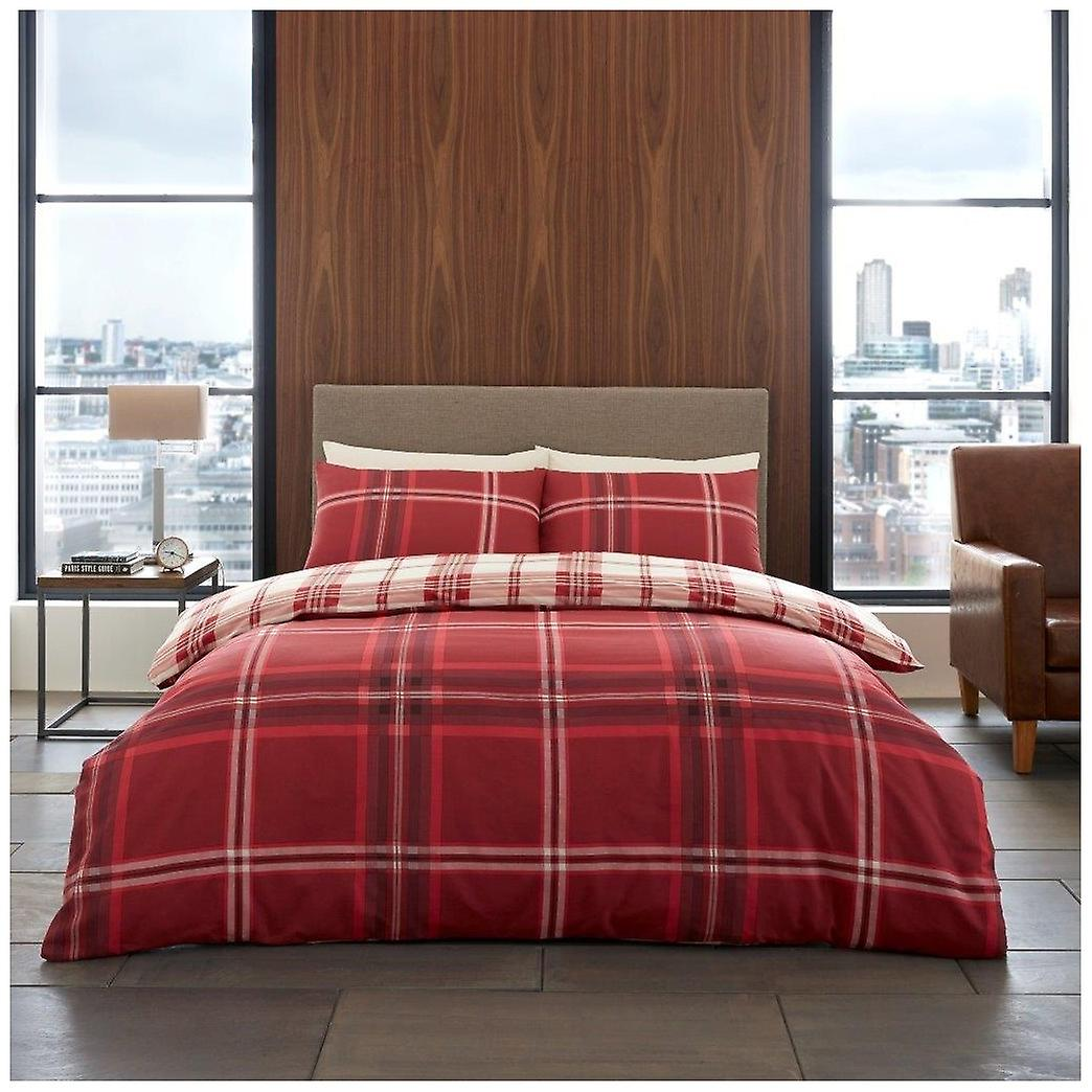 Duvet Fitted Cover Case Piece Bedding 4 Pillow Check Set With Sheet Bardsley f7I6gmyYbv