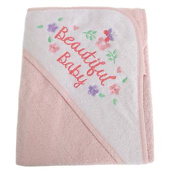 Snuggle Baby Girls Beautiful Floral Hooded Towel