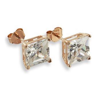 Öra dubbar örhängen 925 Sterling Silver Rose guld smycken bd343f03dfcd7