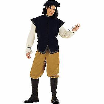 Economic medieval nobleman Mr costume Squire servant host costume mens costume