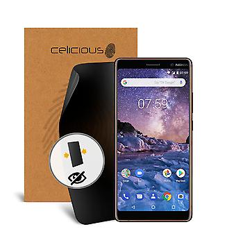 Celicious Privacy 2-Way Anti-Spy Filter Screen Protector Film Compatible with Nokia 7 plus