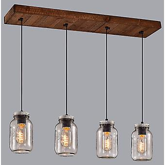 Modern Linear Ceiling Hanging Pendant Light with Globe Bulbs Best Quality Pendant