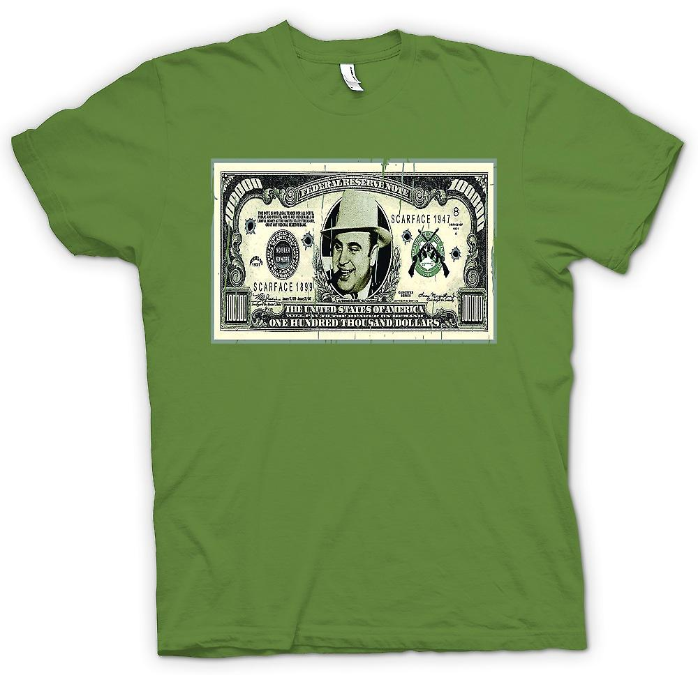 Mens t-shirt - 100 k $ Bill - Al Capone Nota
