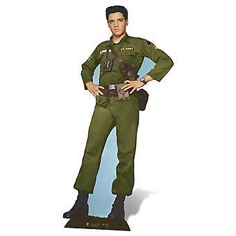 Ejército de Elvis días recorte de cartón de tamaño natural / pie