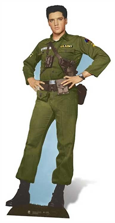 Elvis Army Days Lifesize Cardboard Cutout / Standee
