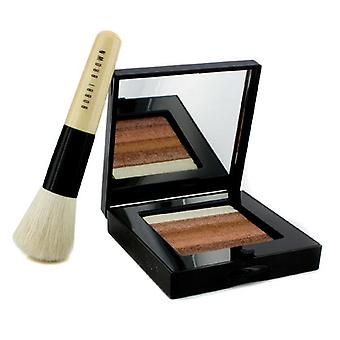 Bronze Shimmer Brick Set: Bronze Shimmer Brick Compact + Mini Face Blender Brush (limited Edition) - 2pcs