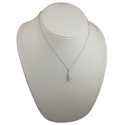 Silver 25x11mm moveable Crocodile Pendant with a rolo Chain 18 inches