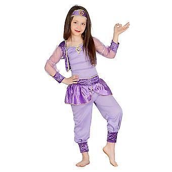 Mädchen lila arabische Tänzerin Kostüm