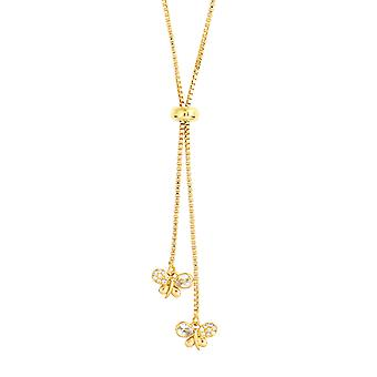 Bertha Willow Collection Women's 18k YG Plated Bolo Bee Fashion Necklace
