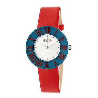 Crayo Prestige Unisex Watch - Teal/Red