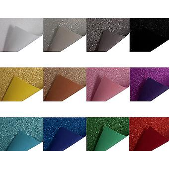 Best Quality Acrylic Glitter Felt Fabric 30x23cm - Choice of Colours
