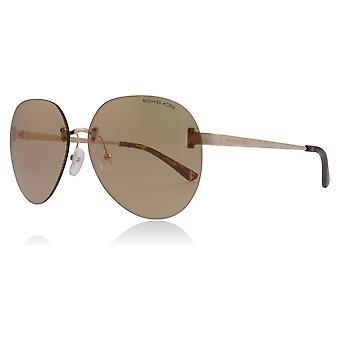 Michael Kors MK1037 1108R1 Rose Gold MK1037 Piloten Sonnenbrille Objektiv Kategorie 2 gespiegelte Größe 60mm Objektiv