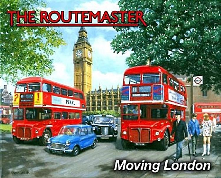 Routemaster Moving London metal sign  (og 2015)