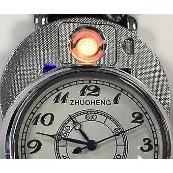 Zhuoheng - Clock with hidden USB Turbo lighter in gift case