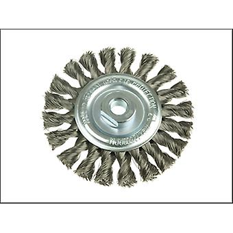 KNOT WHEEL BRUSH 115X12X22.2 STAINLESS STEEL