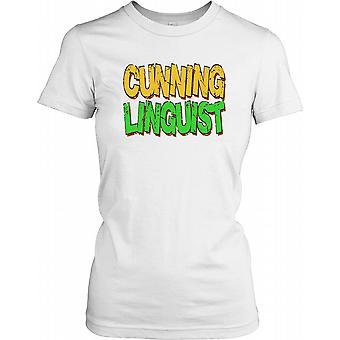 Cunning Linguist - Funny Wordplay Ladies T Shirt