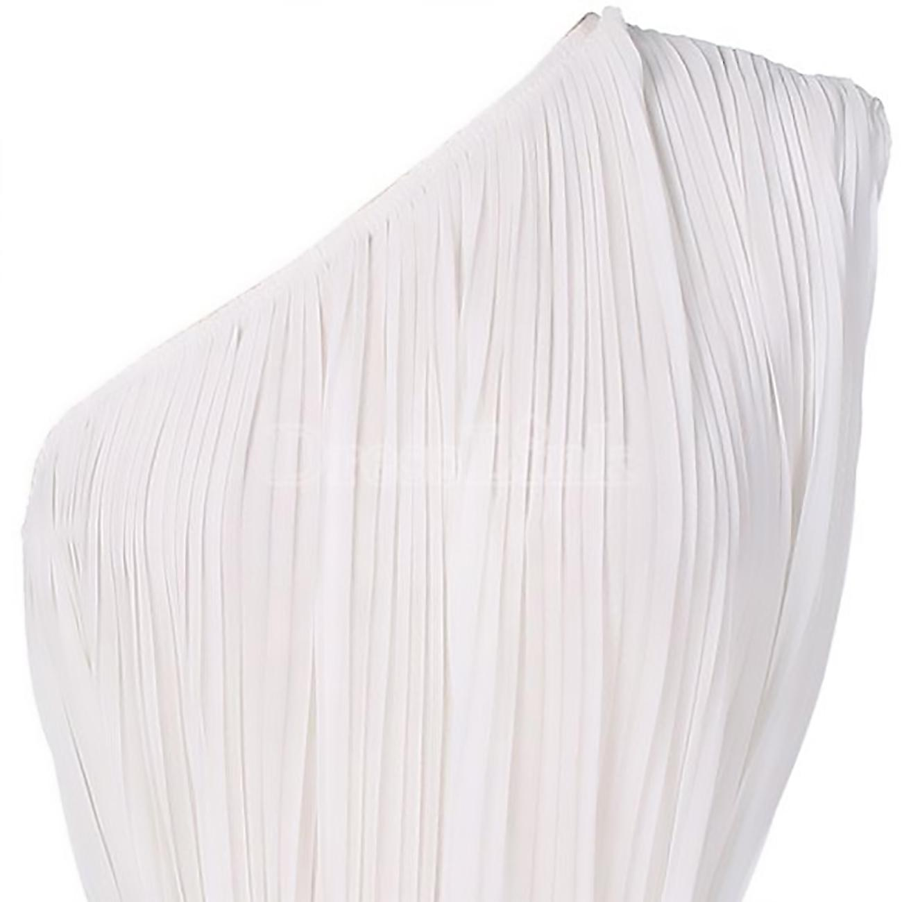 Long dress pleated one-shoulder style Lassa