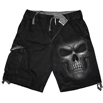 Spiral Direct Gothic SHADOW MASTER - Vintage Cargo Shorts Black|Skulls|Death|Horror