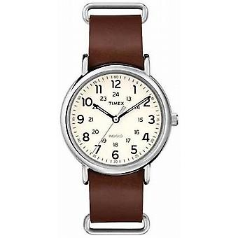 Timex Originals Weekender Brown Leather Strap T2P495 Watch