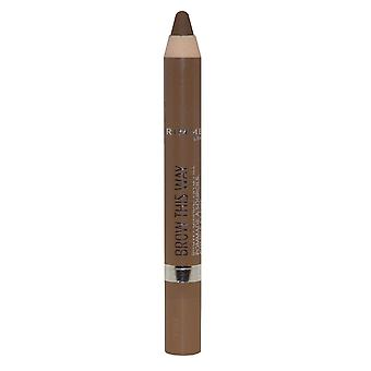 Rimmel London Brow This Way Brow Pomade Fix and Fill 3.25g Medium #002