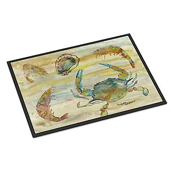 Crab, Shrimp, Oyster Yellow Sky Indoor or Outdoor Mat 18x27
