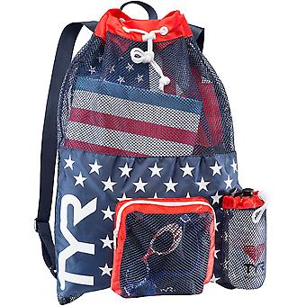 TYR Big Mesh Mummy Backpack-USA print