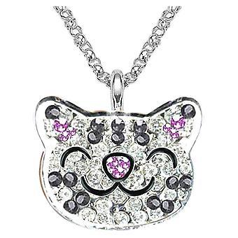 Big Bang teori Soft Kitty krystall ring halskjede
