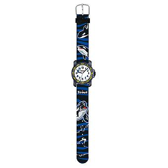 Scout Kids Watch Learning Clock Action Boys Blue and Black 280376009