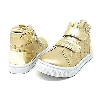 bebe Toddlers Girls High Top Velcro Strap Sneakers Chaussures avec embellissement du cœur