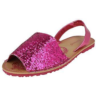 Girls Spot On Glitter Summer Sandals H0128