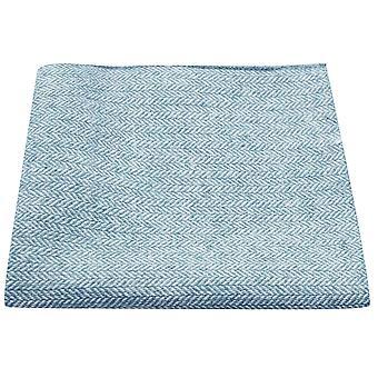Sky Blue Herringbone Pocket Square, Handkerchief