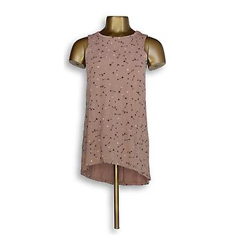 Anyone Women-apos;s Top (XXS) Cozy Knit Imprimé Hi-Lo Hem Tank Pink A296886