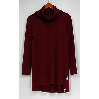 Lisa Rinna Collection Top Cowl Neck Long Sleeve Knit Purple A297909