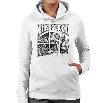 Flash Gordon Ming Space Rescue Montage Women's Hooded Sweatshirt