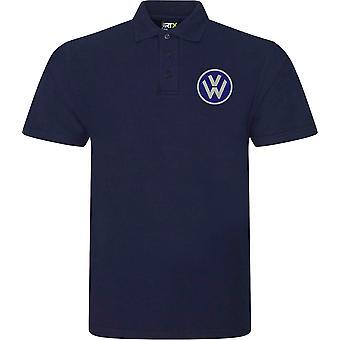 VW Motor Car Motoring - Logo - Blue - Polo Shirt
