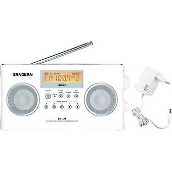 Sangean Pack PR-D5 Portable Radio White, Portable radio, FM, AM, Silver, White
