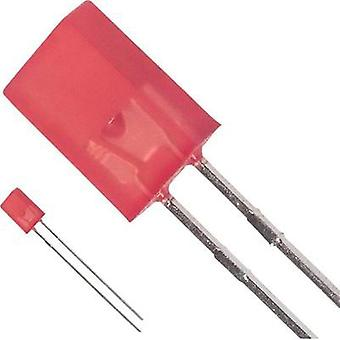 LED wired Red Rectangular 5.06 x 2.11 mm 7.5 mcd