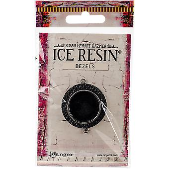 Ice Resin Milan Bezels Closed Back Circle Medium-Antique Silver IRB50742