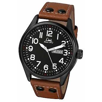 Limit Mens Brown Leather Strap Black Dial 5492.01 Watch
