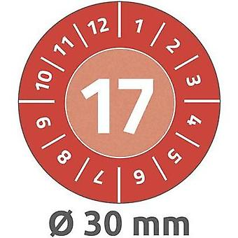 Avery-Zweckform 6938 Labels (hand writable) Ø 30 mm Film Red 80 pc(s) Permanent Test labels
