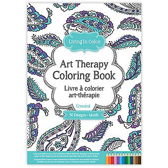 Living In Color Art Therapy Coloring Book-Unwind LIC610-B